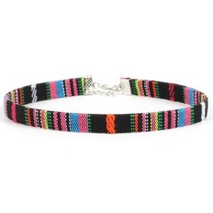 Jewelry - Boho Gypsy Multicolor Thin Leather Choker